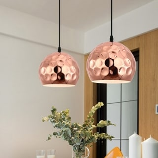 Light Society Capwell Copper-finish Metal Pendant Lamp
