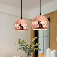 Light Society Capwell Copper-finish Metal Pendant Lamp - Copper