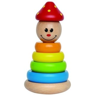 Hape 'Early Explorer' Clown Stacker Wooden Ring Toy