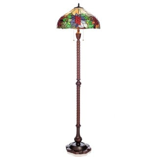 Tiffany Pypher Multicolor Stained Glass 62-inch 2-light Floor Lamp