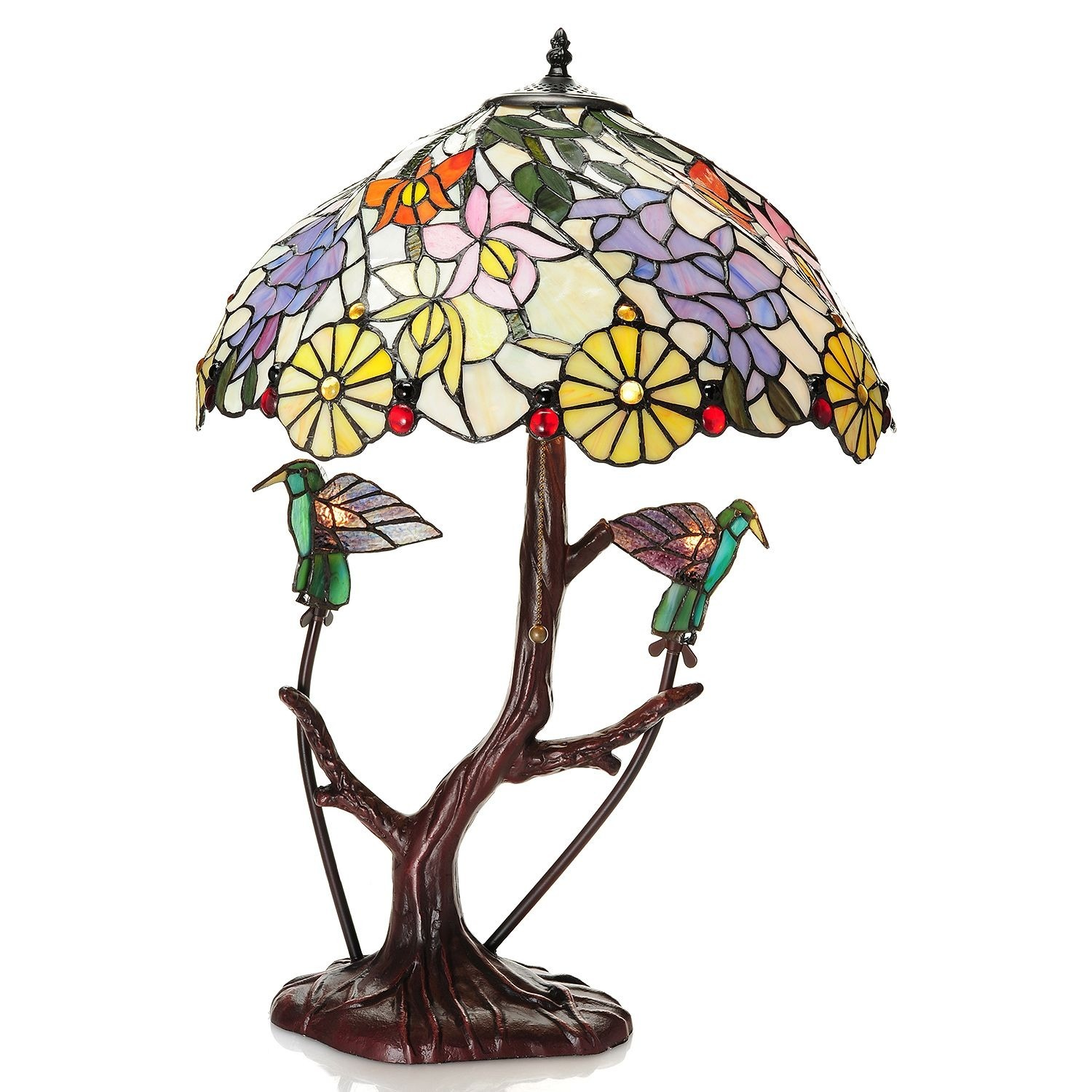 Warehouse of Tiffany Shiyee Love Birds Stained Glass 26-i...