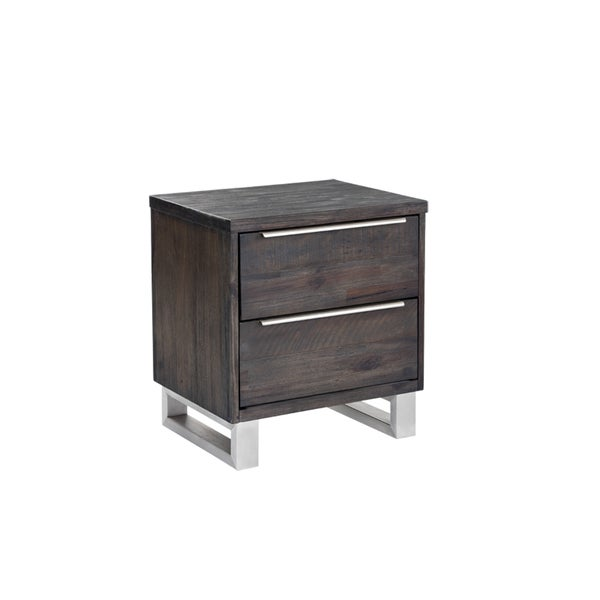 Sunpan Rhodes Brown Wood Nightstand