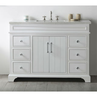Legion Furniture White 48-inch Single Bathroom Vanity