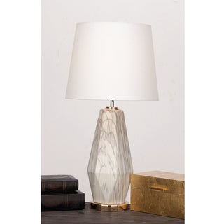 Urban Designs 'Claudia' Off-white Glazed-ceramic Diamond-shape Table Lamp