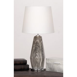 Urban Designs Diana Grey/Ivory Ceramic Glazed Diamond-shaped Table Lamp