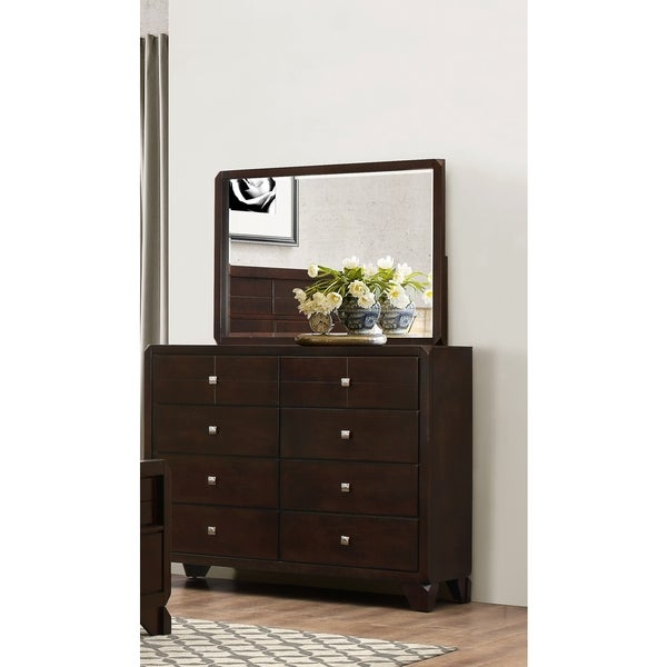 Shop Lyke Home Phylis Merlot 8 Drawer Dresser And Mirror Set Free