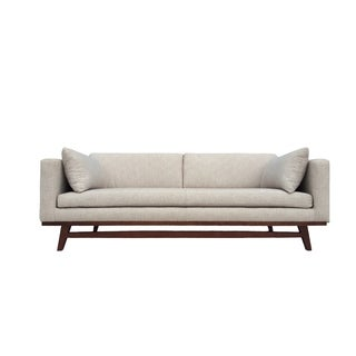 Metz Contemporary White Fabric Loveseat