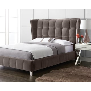Giotto Grey Fabric Queen Cadam Bed