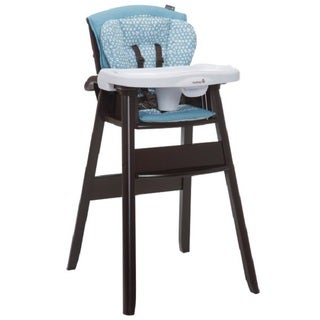 Safety 1st Dine and Recline Blue Wood High Chair