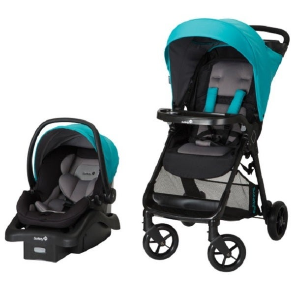 safety 1st smooth ride travel system lake blue plastic stroller and car seat free shipping. Black Bedroom Furniture Sets. Home Design Ideas