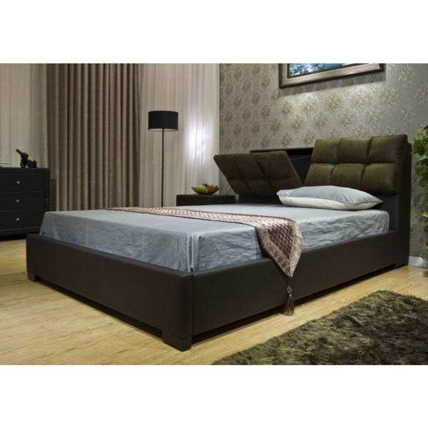 Greatime Upholstered Hidden Storage Bed  sc 1 st  Overstock.com & Shop Greatime Upholstered Hidden Storage Bed - Free Shipping Today ...