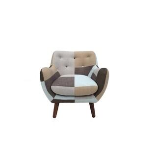 Naples Mid Century Bridgewater Rustic Patchwork Chair