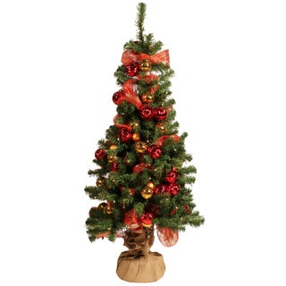 4.5-foot Prelit Mesh Ribbon Artificial Tree