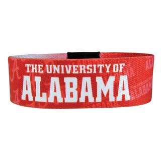 NCAA Red Strecth Fabric Alabama Crimson Tide Bracelet