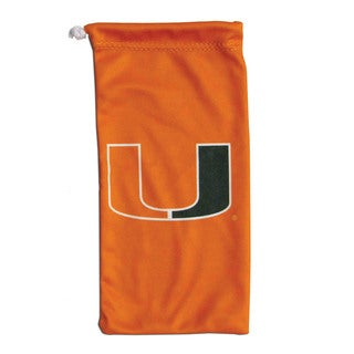 NCAA Miami Hurricanes Microfiber Sunglass Bag