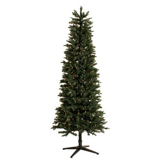 Green Clear Pre-lit Slim Christmas Tree