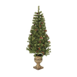Green Artificial LED Lights Porch Tree