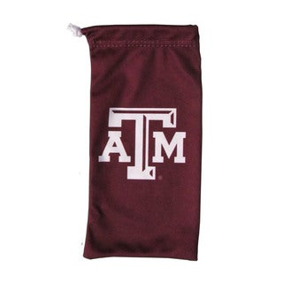 NCAA Texas A & M Aggies White/Burgundy Microfiber Sunglass Bag