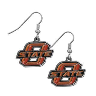 Siskiyou Oklahoma State Cowboys NCAA Chrome Dangle Earrings