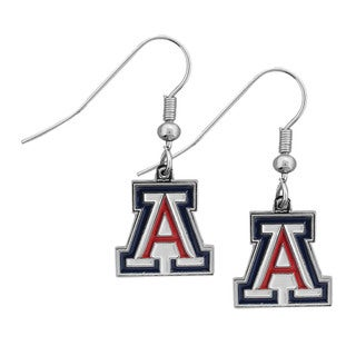 Siskiyou NCAA Arizona Wildcats Chrome Dangle Earrings