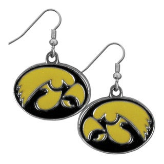 Siskiyou Iowa Hawkeyes NCAA Chrome Dangle Earrings