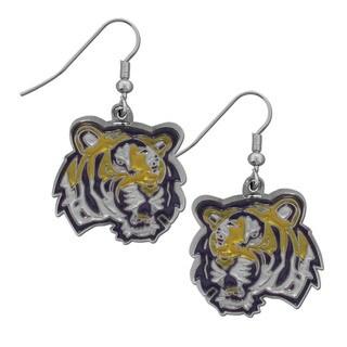 Siskiyou NCAA LSU Tigers Chrome Dangle Earrings