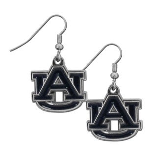 NCAA Auburn Tigers Chrome Team Logo Dangle Earrings