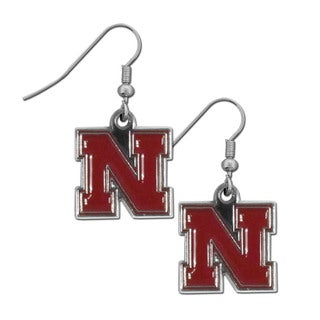 Siskiyou Nebraska Cornhuskers NCAA Chrome Dangle Earrings