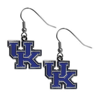 NCAA Women's Blue and Chrome Kentucky Wildcats Dangle Earrings