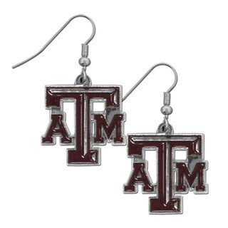 NCAA Texas A and M Aggies Chrome Dangle Earrings