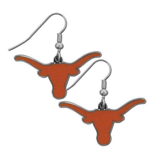 size 40 bcd1d 16962 NCAA Texas Longhorns Chrome Dangle Earrings