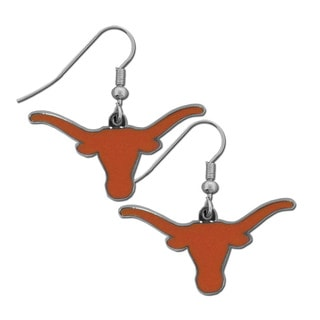 NCAA Texas Longhorns Chrome Dangle Earrings