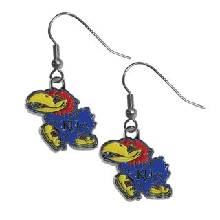 Siskiyou NCAA Kansas Jayhawks Chrome Dangle Earrings