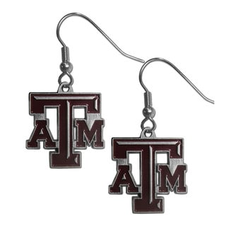 NCAA Texas A & M Aggies Enamel Sports Team Logo Dangle Earrings