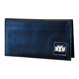 NCAA BYU Cougars Deluxe Leather Checkbook Cover