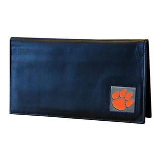 Siskiyou NCAA Clemson Tigers Leather Checkbook Cover