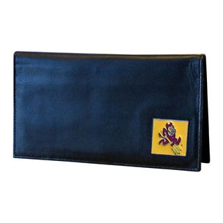 NCAA Arizona St. Sun Devils Deluxe Leather Checkbook Cover