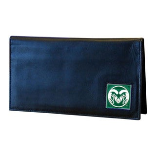 NCAA Colorado State Rams Deluxe Leather Sports Team Logo Checkbook Cover
