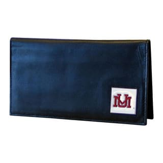 NCAA Montana Grizzlies Deluxe Leather Checkbook Cover