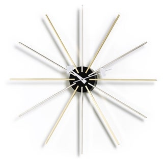 Kardiel George Nelson Brass/Stainless Steel Star Clock