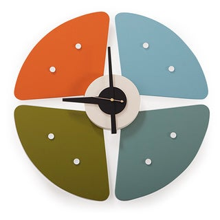 Kardiel Petals Multicolor Metal Clock