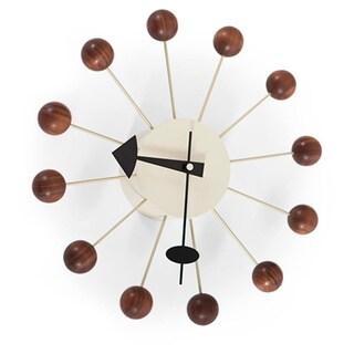 Kardiel George Nelson-style Walnut Ball Clock