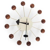 Kardiel George Nelson-style Walnut Ball Clock