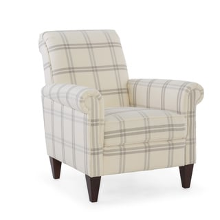 Emma Pebble Wood/Upholstered Armchair