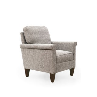 Bennet Stone Grey Wood Upholstered Arm Chair