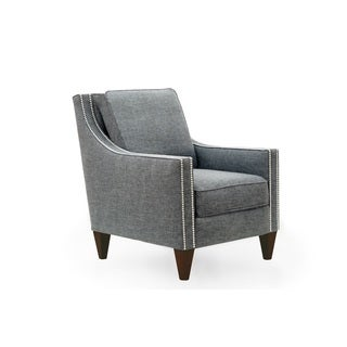Carson Steel Grey Wood Arm Chair
