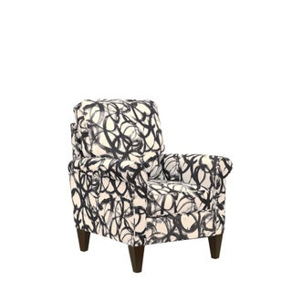 Harlow Espresso Brown Wood Upholstered Arm Chair