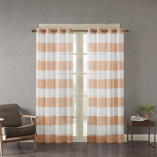 Urban Habitat Chapin Yarn Dyed Woven Sheer Window Curtain Panel