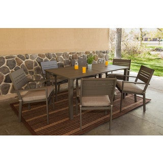 Somette Kaufmann Aluminum 7 Piece Dining Table Set