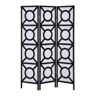 LYKE Home Geometric Style Black Room Divider